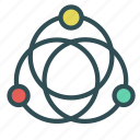 circles, connection, motion icon