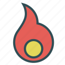 circle, core, fire, flame icon
