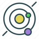 galaxy, planet, solar, space, system icon