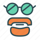 avatar, beard, face, glasses icon