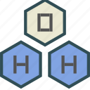 chemical, chemistry, h2o, water icon