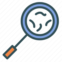 glass, magnifying, microscope icon