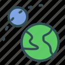 earth, moon, motion, satellite icon