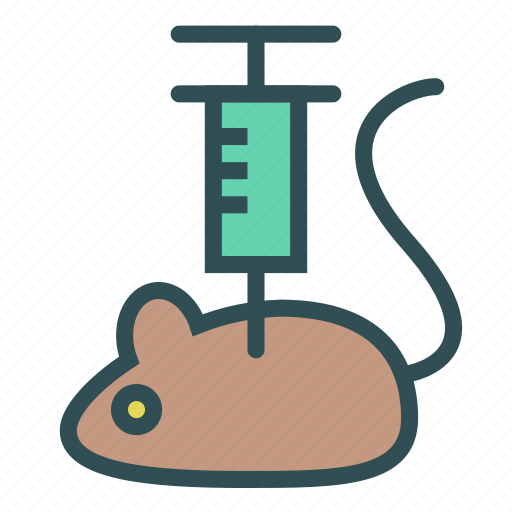 animal, injection, mouse, serynge, vaccine icon