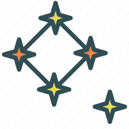 astronomy, formation, star icon