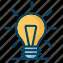 bulb, experiment, lamp, light, science