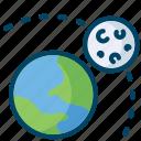 moon, night, rotation, science icon