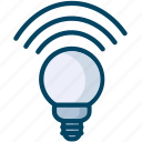 bulb, lamp, light, science icon