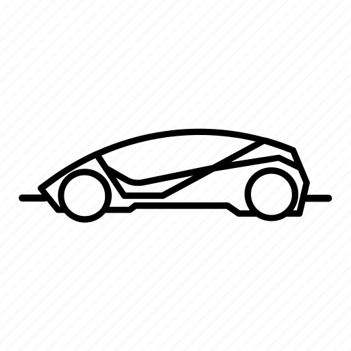 automobile, car, futurist, scifi, sports car, vehicle icon