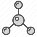 chemical, compound, connection, structure icon