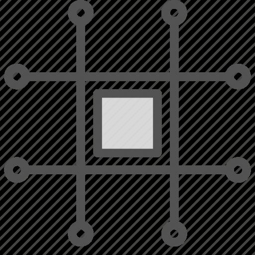 chip, circuit, square icon