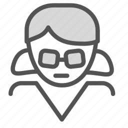 avatar, female, figure, glasses, woman icon
