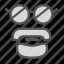 avatar, beard, face, glasses icon