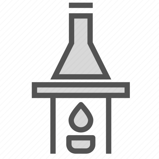 fire, flame, flask, heat, laboratory, lamp, tube icon