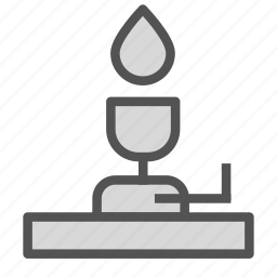 chemistry, fire, flame, lab, lamp, torch icon