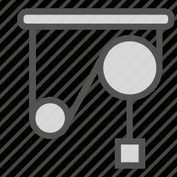 mechanics, physics, tension, work icon