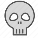 danger, death, poison, skull icon