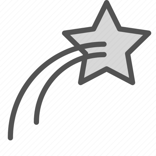 falling, space, star icon