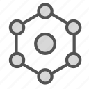 chemical, chemistry, science, structure icon