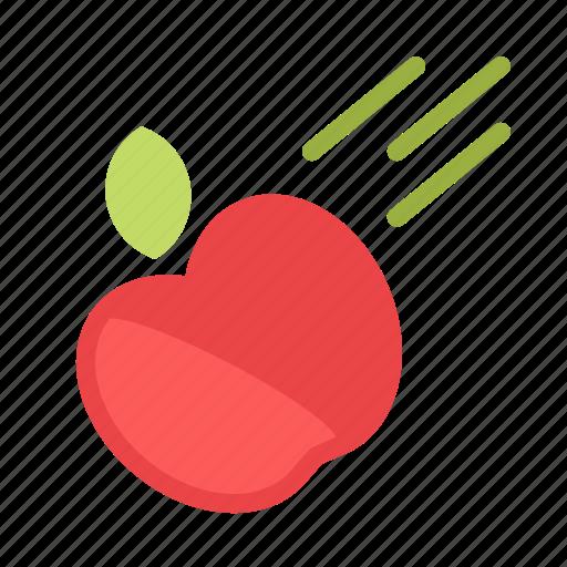 apple, fall, speed, throw icon