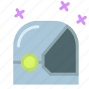 astronaut, helmet, space, star icon