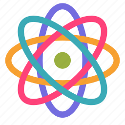 atom, particle, physics, science icon
