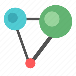 chemical, compound, connection, network icon