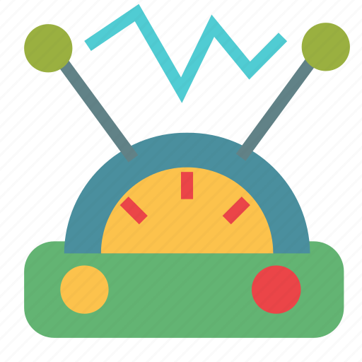 current, electricity, measure, physics icon