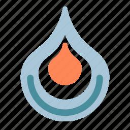flame, levels, representation, three icon