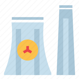 energy, factory, nuclear, power icon