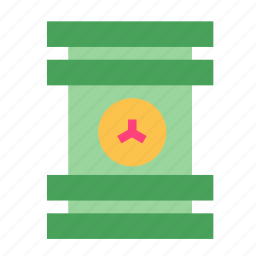 container, fusion, nuclear icon