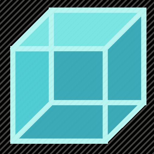 cube, dimension, mathematics, square, three icon