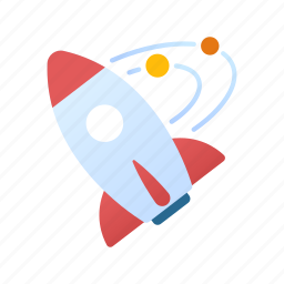 aerospace, industry, rocket, science, space, spaceship, technology icon