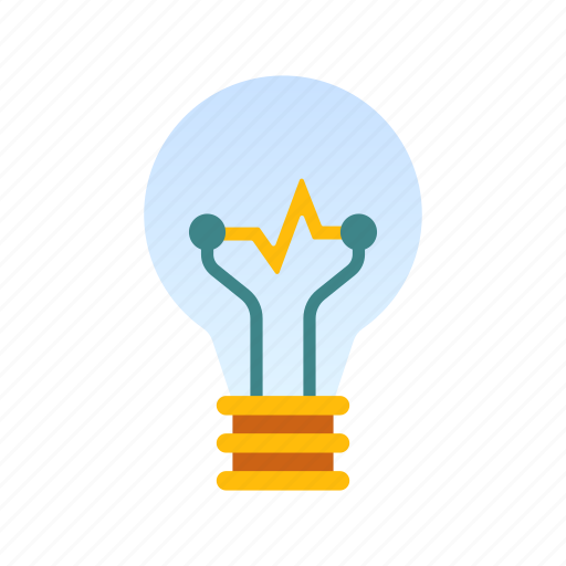bulb, electric, electricity, energy, idea, power, spark icon