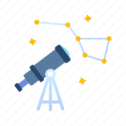 astrology, astronomy, galaxy, science, space, telescope, universe icon