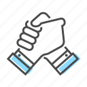 collaboration, community, friendship, hand, team, together, work icon