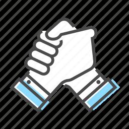 collaboration, community, friendship, hand, team, together, work icon