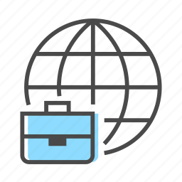 business, communication, cooperation, global, globe, internet, occupation icon