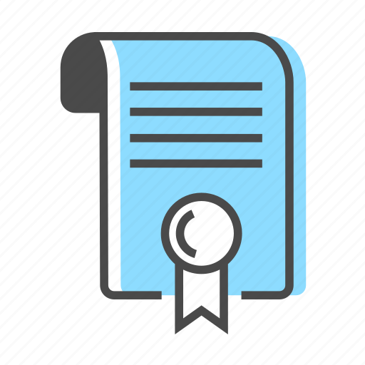 business, certificate, contract, document, job, sign icon