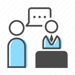 business, client, interview, job, office, people, work icon