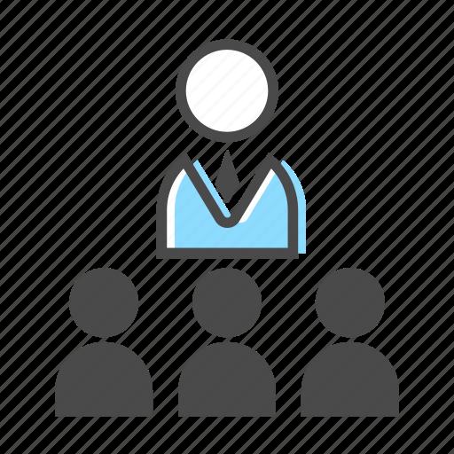 business, leader, leadership, meeting, office, people, team icon