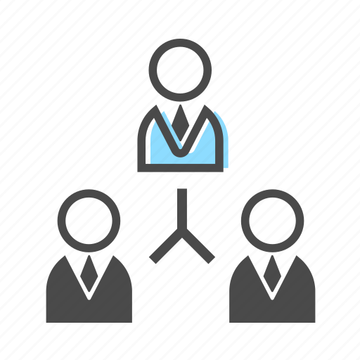 business, chart, hierarchy, organization, organizational, structure icon