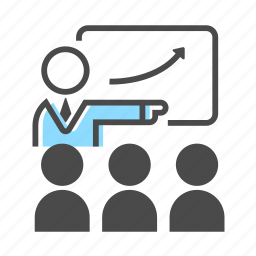 business, communication, manager, meeting, office, people, presentation icon