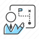 analysis, business, chart, planning, strategy, success icon