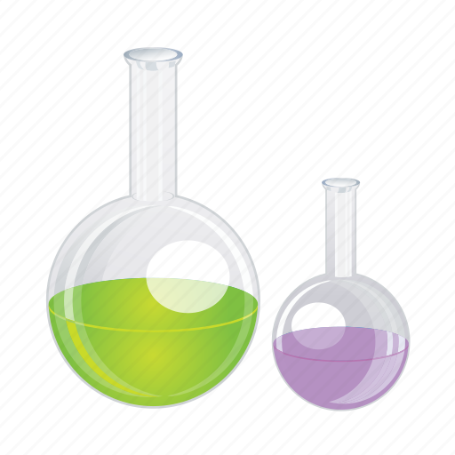 bottles, cemical, chemical, glass, laboratory, science icon