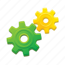 gears, configuration, control, options, settings icon
