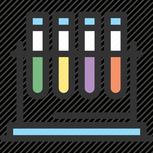 laboratory, science, test, tube icon