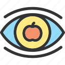 eye, eyes, science, view icon