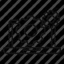 data, gear, hardware, laptop, program, system, utilities icon