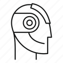 modern, connect, robot, model, communicate, fiction, head icon